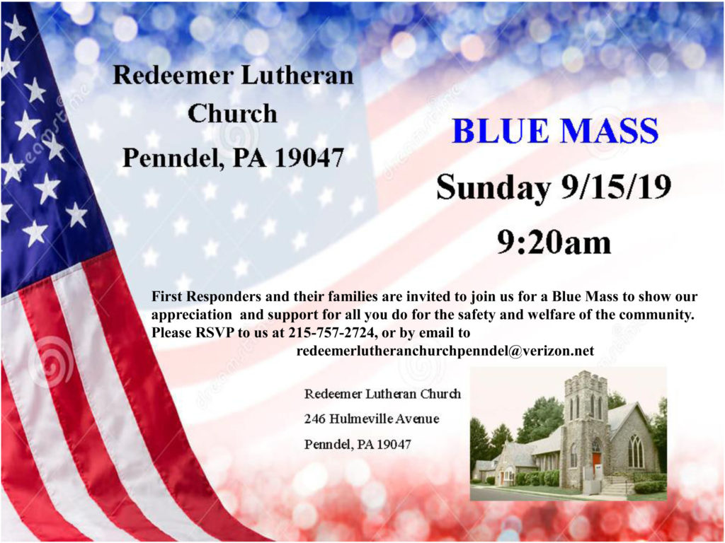 Blue Mass Invitation 2019