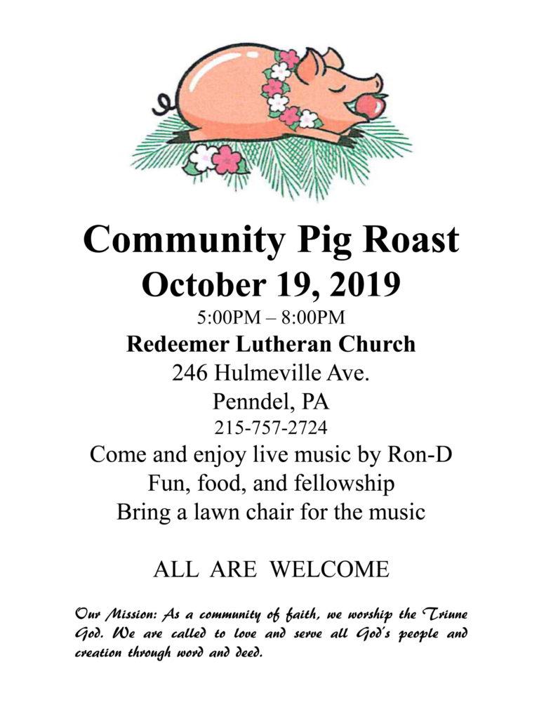 Community Pig Roast